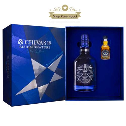 Rượu Chivas 18 Blue Hộp Quà 2018