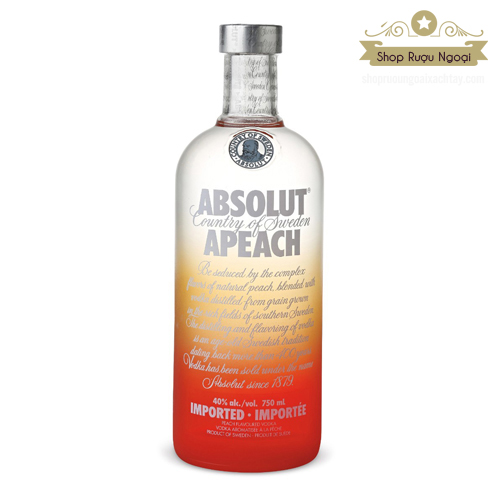 Rượu Absolut Apeach 750ml - shopruoungoaixachtay.com