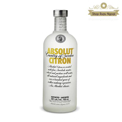 Rượu Vodka Absolut Citron 750ml - shopruoungoaixachtay.com