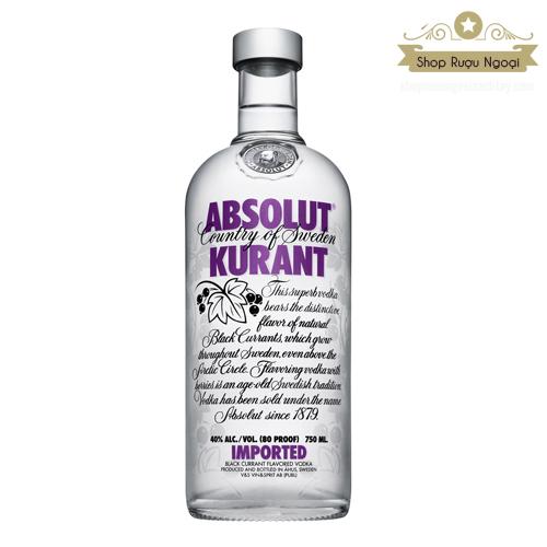 Rượu Absolut Kuarant 750ml - shopruoungoaixachtay.com