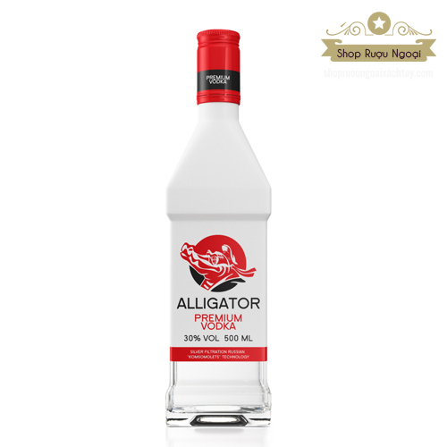 Rượu Vodka cá sấu đỏ - shopruoungoaixachtay.com