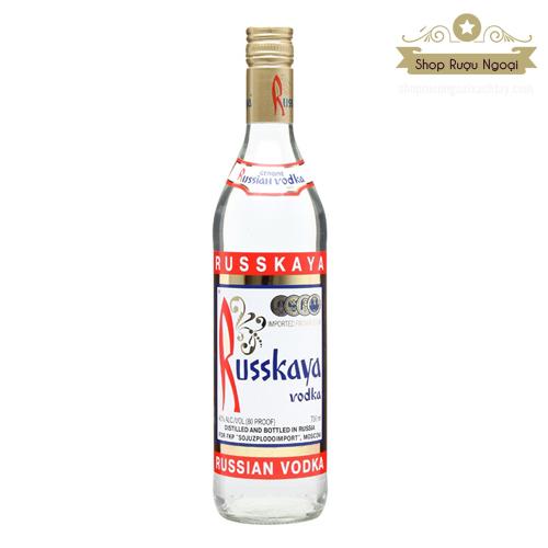 Rượu Vodka Russkaya - shopruoungoaixachtay.com