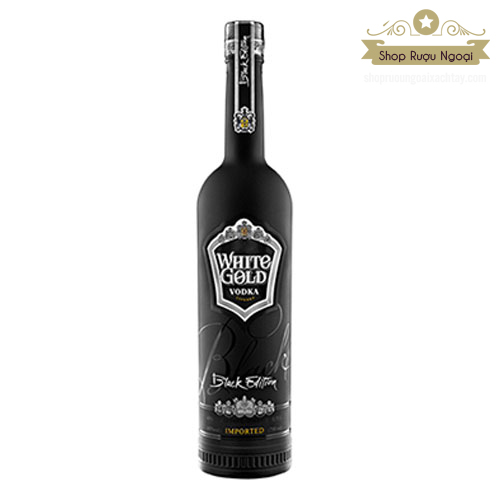 Rượu Vodka White Gold Black Edition 750ml - shopruoungoaixachtay.com