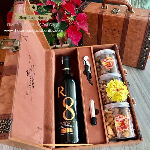 Hộp quà rượu Tết – Rượu vang R8