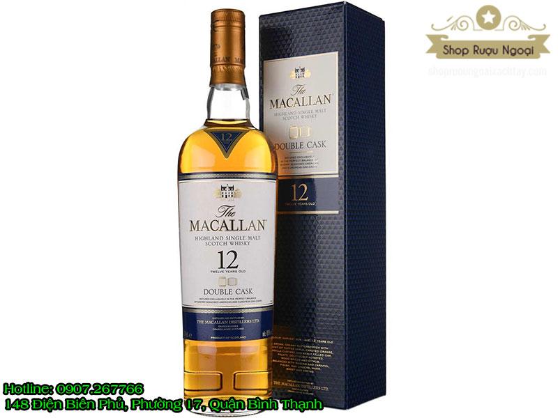 Macallan 12 năm 1 Lít ( Xanh )