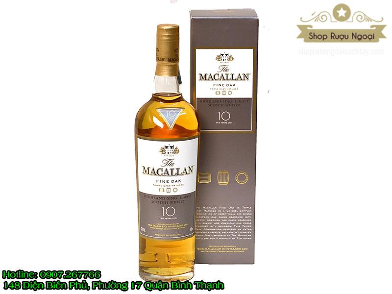 Rượu Macallan 10 năm Sherry Oak